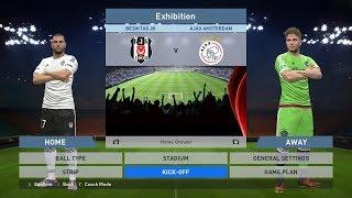 Besiktas JK vs Ajax Amsterdam, BJK Vodafone Park, PES 2016, PRO EVOLUTION SOCCER 2016, Konami, PC