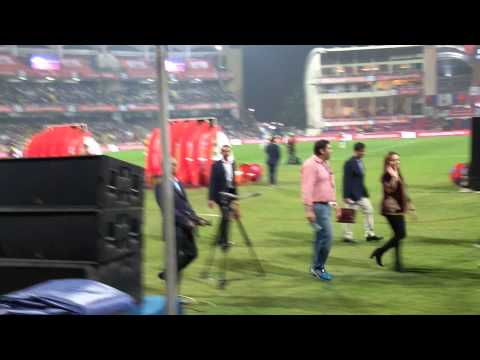 Sachin vs Ganguly #ISLfinals closing ceremony