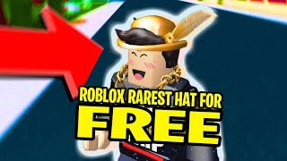 The Rarest Hat In Roblox For FREE! (Golden Roblox Bowler)