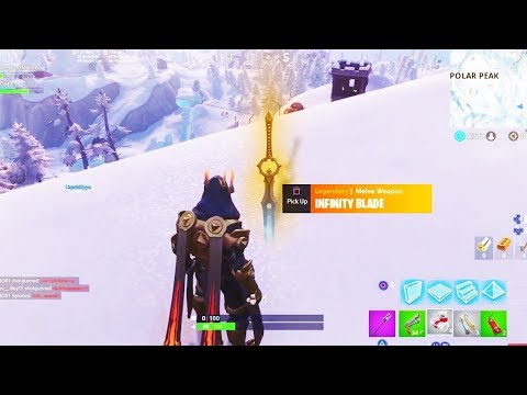 INFINITY BLADE UPDATE! *NEW* 7.01 Ice King SWORD Patch! Fortnite Season 7 Live Gameplay
