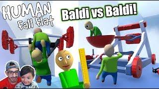 Baldi Bueno vs Baldi Malo | Baldi en Human Fall Flat | Juegos Karim Juega