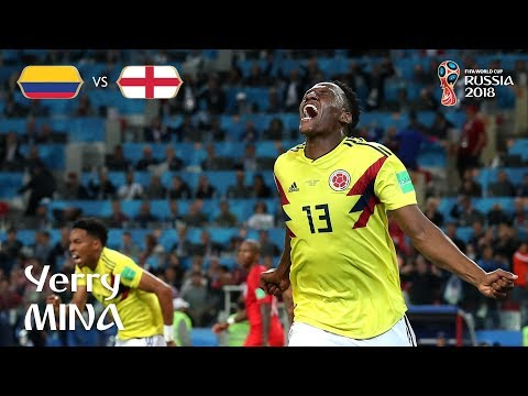 Yerry MINA Goal – Colombia v England  – MATCH 56