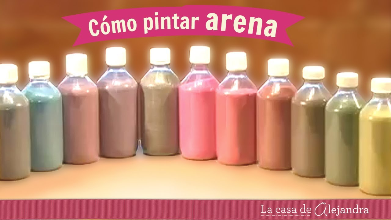 Como pintar arena diy alejandra coghlan youtube for Arena de colores