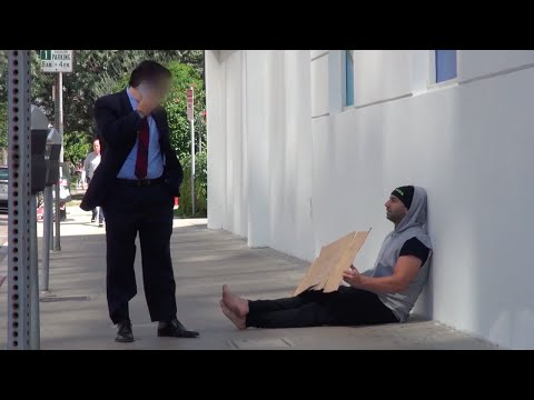 WHAT IF THE HOMELESS GAVE YOU MONEY? video