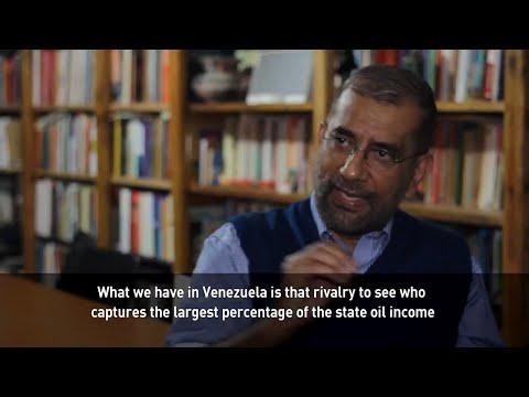 "Former Venezuelan Industry Minister, Víctor Álvarez, explains the concept of the ""rentier state"""