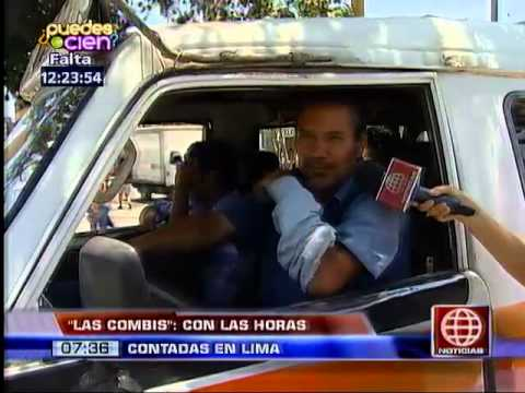 América Noticias: Combis dejarían de circular en Lima a partir del año  2017