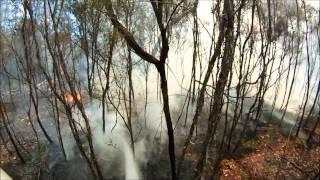 Lefroy Bushfire Helmet Camera Footage. 2013. Tasmania, Australia. PART 1.