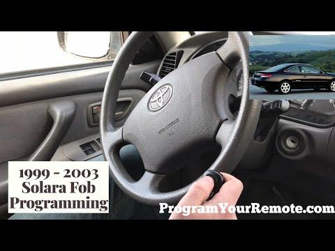 How To Program A Toyota Camry Solara Remote Key Fob 1999 - 2003