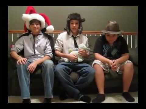 Austin Mahone, Alex Constancio and Cameron Ball acting out Ghost in the Machine!