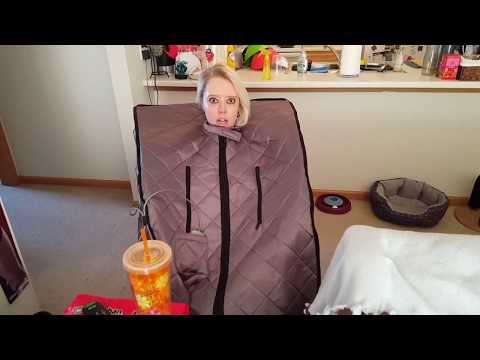 Portable infrared heat sauna