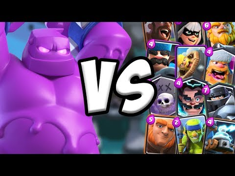 Elixir Golem GAMEPLAY Vs All Cards | Clash Royale