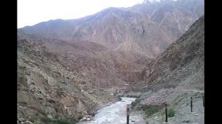 Roadtrip Drass to Kargil on famous Srinagar - Leh Highway along with Dras River in Ladakh