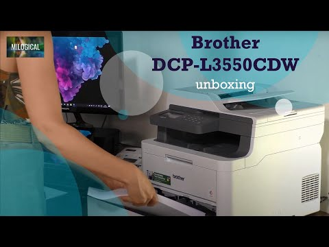 Unboxing a Brother DCP-L3550CDW Colour Wireless LED 3-in-1 Printer