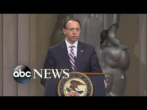 Rod Rosenstein honored at farewell ceremony