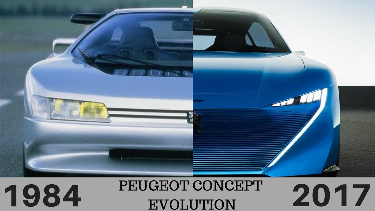 Peugeot All Concept Cars Prototypes Evolution 1984 2017