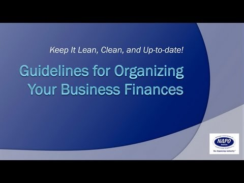 Guidelines for Organizing Your Business Finances
