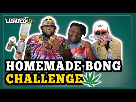 5 Minute Homemade Bong Weed Challenge