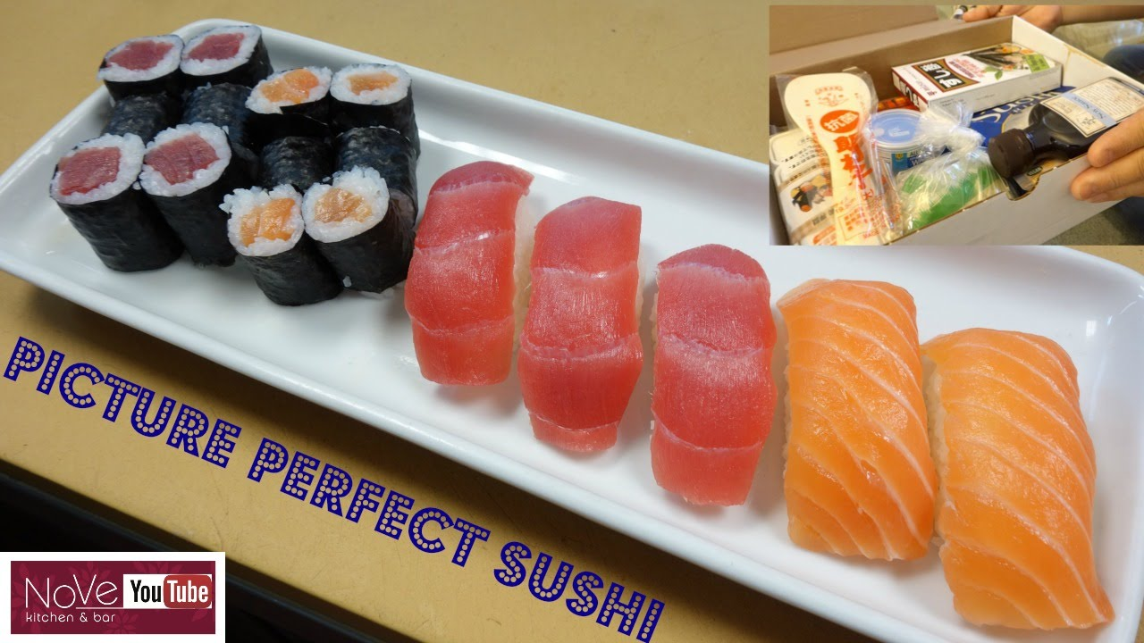 perfectly made sushi using a sushi kit how to make sushi series