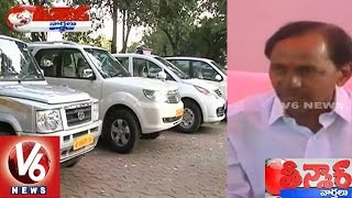 CM KCR provides New Vehicles to District Collectors - Teenmaar News (01-04-2015)