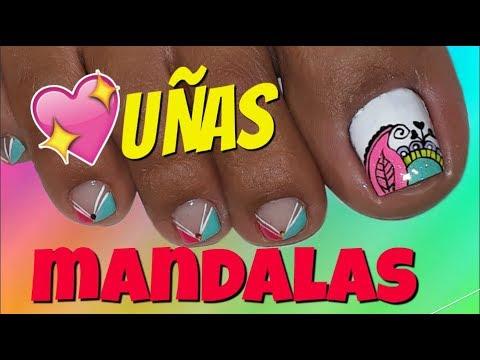 Diseño De Uñas Mandalas Paso A Paso Pies Mandalas Nail Art Youtube