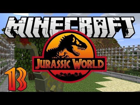 "Minecraft: Jurassic World - Ep. 13 - ""Tyrannosaurus and Brachiosaurus!"" (Rexxit Modpack)"