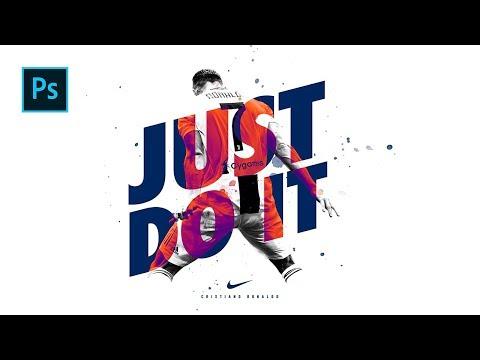 Cara Desain Poster Bola / Olahraga Menarik EPS 2 - Photoshop Tutorial Indonesia