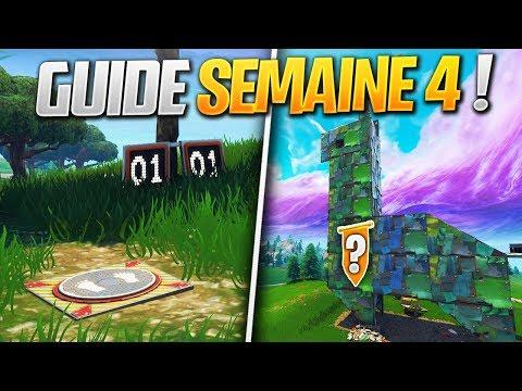 GUIDE COMPLET DES DÉFIS DE LA SEMAINE 4 SAISON 6 DE FORTNITE ! (Fortnite Astuce)
