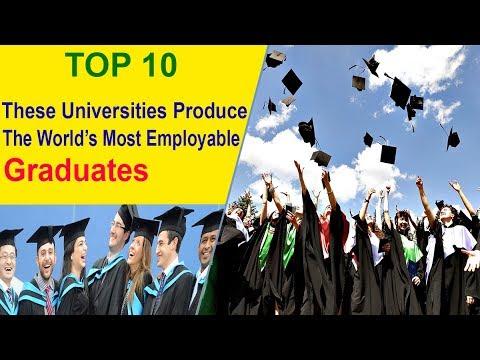 Top 10 World's Most Employable Graduates   Universities  