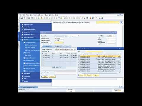 DEMONSTRATION  OF BANKING AND CASH  FUNCTIONALITY IN SAP BUSINESS ONE