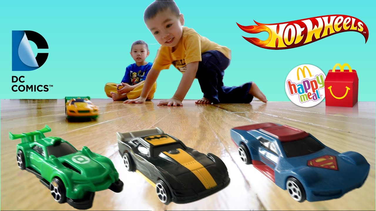 Mc Donald\'s HOT WHEELS 2016 Happy Meal Toys | DC COMIC SUPER HEROES ...