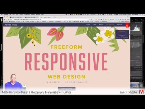 Terry White Live Eisode 24 - Building Websites From Scratch With Adobe Muse CC | Tutorial