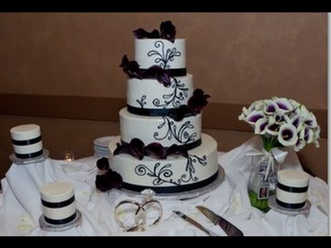 Purple Calla Lily Wedding Cake   YouTube Purple Calla Lily Wedding Cake