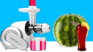 Wieviel % Flüssigkeit steckt in einer Wassermelone? Entsafter Experiment