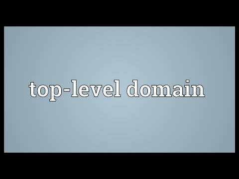Top-level domain Meaning