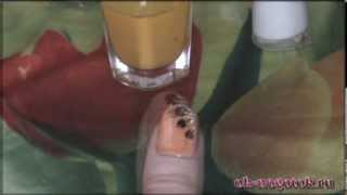 Видео урок №8. Рисунок на ногтях иголкой