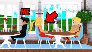 I Crashed A Gold Digger's Date.. She Tried To Rob Her BOYFRIEND! (Roblox Bloxburg)