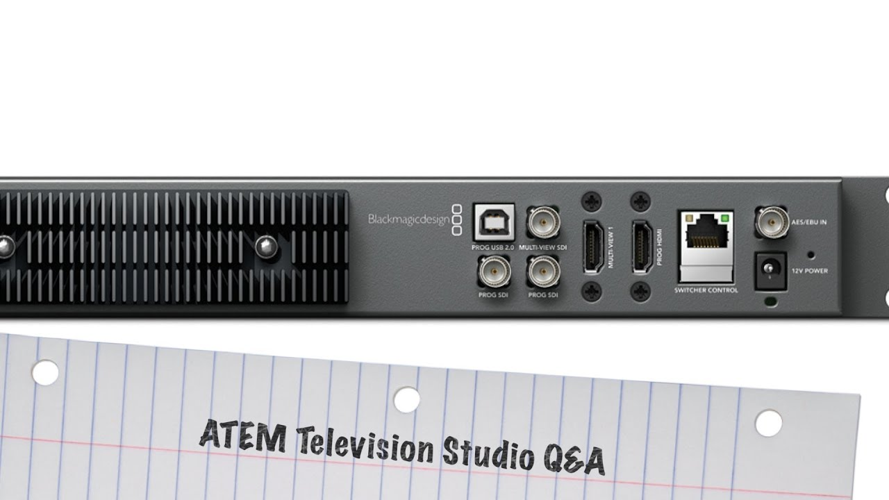 Blackmagic Atem Television Studio Streaming Recording Via Usb And Ipad Tablet Control Youtube