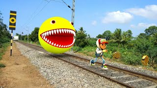 Pacman Vs Subway Surfers In Real Life - 4K