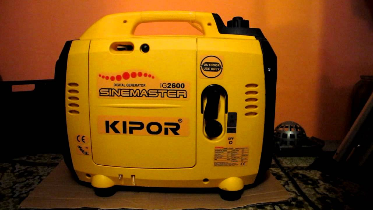 Kipor IG 2600 first use