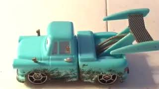 Disney Pixar cars Tokyo Mater with oil stains diecast review