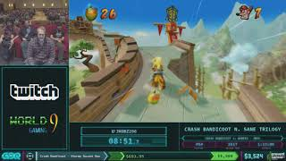 Crash Bandicoot N. Sane Trilogy by JHobz in 59:15 AGDQ 2018
