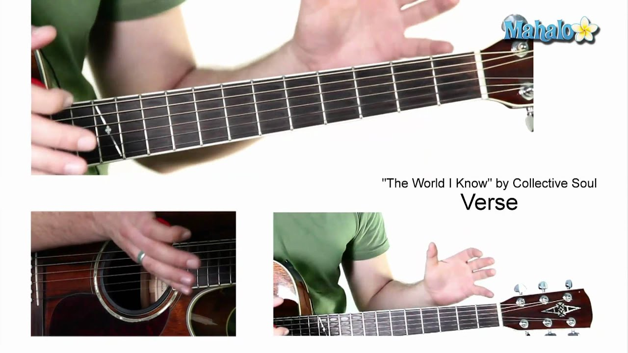 How To Play The World I Know By Collective Soul On Guitar Youtube