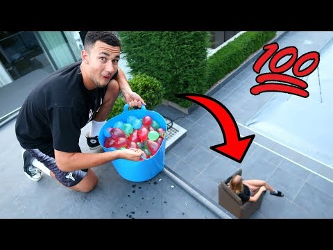 100 WATER BALLOON PRANK ON MY GIRLFRIEND!!