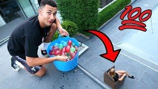 100 WATER BALLOON PRANK ON MY GIRLFRIEND!! thumbnail