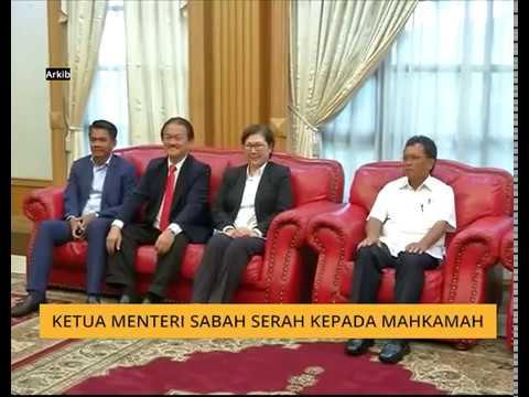 Ketua Menteri Sabah serah kepada mahkamah