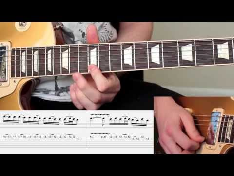 'NOVEMBER RAIN' - by GNR - Guitar Solos 1 & 2 Video Lesson *WITH TABS* - Lesson by Karl Golden