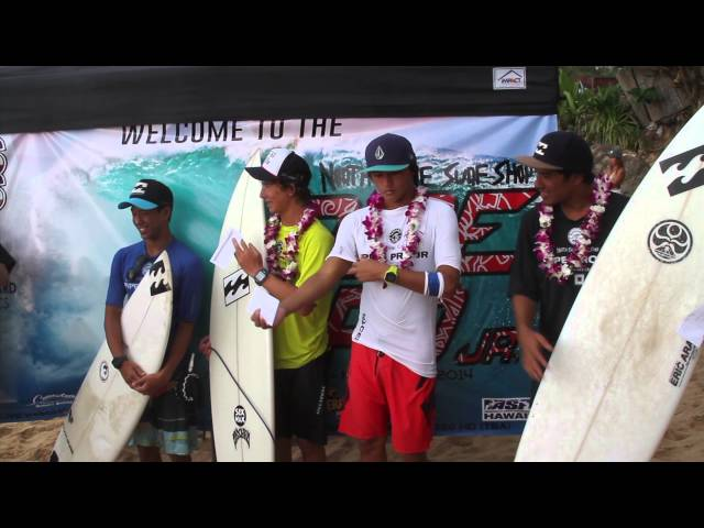 2014 North Shore Surf Shop Pipe Pro Jr Final News Travel Video