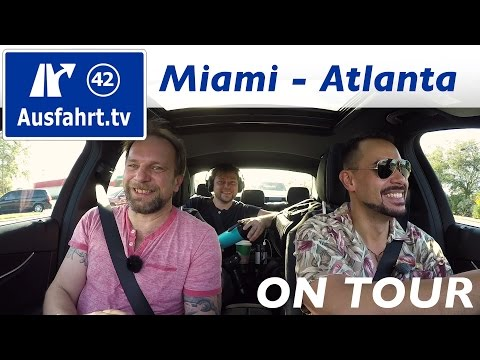 USA-Roadtrip Coast to Coast: Miami - Atlanta #mbc2c #mbrtc2c16 Ausfahrt.tv on tour