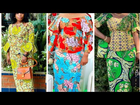 African women's beautiful dresses in Ankara print.congolese, Nigeria,ghana fashion styles in ankara