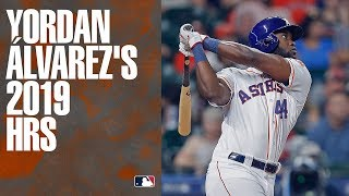 All of 2019 AL Rookie of the Year Yordan Álvarez
